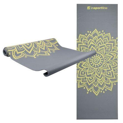 Mata do ćwiczeń inSPORTline Spirit joga, aerobik 172 x 61 cm - Kolor Szary (8596084017314)