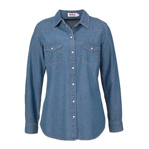Koszula dżinsowa, długi rękaw  niebieski