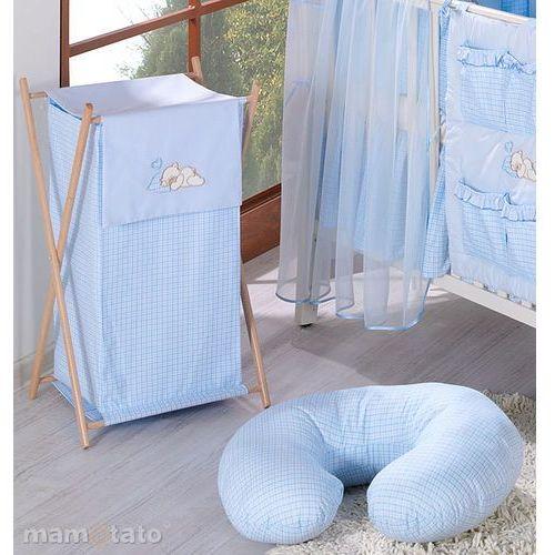 """poszewka na poduszkę do karmienia """"rogal"""" krateczka błękitna marki Mamo-tato"""