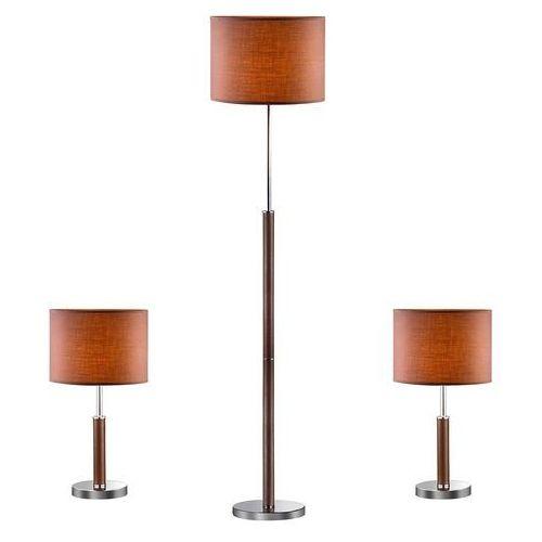 Lampa podłogowa +2 lampy stołowe BARRNET 97031-3BR KOMPLET - Italux - Rabat w koszyku (5900644404859)