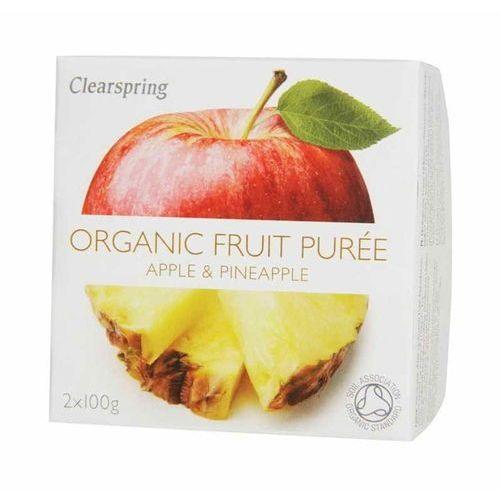 Clearspring Deser jabłko-ananas 2 x 100g - bio
