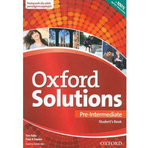 Oxford Solutions Pre-Intermediate. Podręcznik (2015)