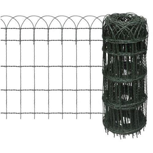vidaXL Rozwijane ogrodzenie trawnikowe 25 x 0,65 m (8718475875864)
