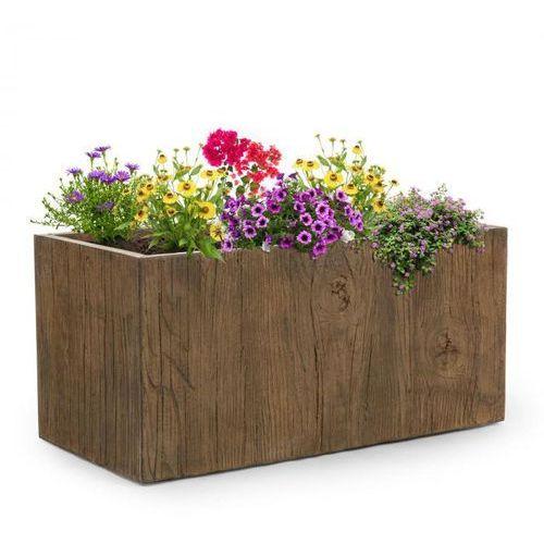 Blumfeldt timberflor doniczka na rośliny 100x45x45cm włókno szklane do wewnątrz/na zewnątrz brązowy (4060656101649)