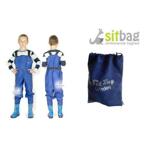 Sitbag Wodery spodniobuty kalosze dla dzieci - niebieski