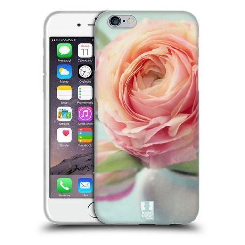Etui silikonowe na telefon - flowers pink peach roses in a vase marki Head case