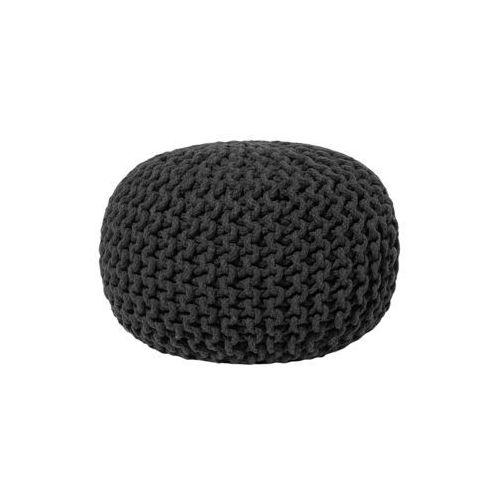 Beliani Pufa czarna - hoker - podnóżek - otomana - 40x25 cm - conrad (7105273294743)
