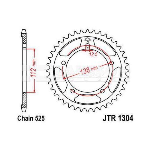 Zębatka tylna stalowa jt 1304-42, 42z, rozmiar 525 2300747 honda cb 600, xl 1000 marki Jt sprockets