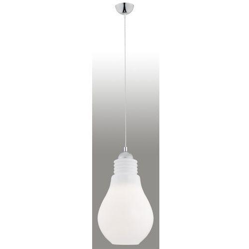 Lampa wisząca kama 489 zwis 1x60w e27 biała/ przezroczysta marki Argon