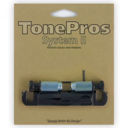 Tonepros t1z-b - tailpiece, części mostka do gitary, czarne