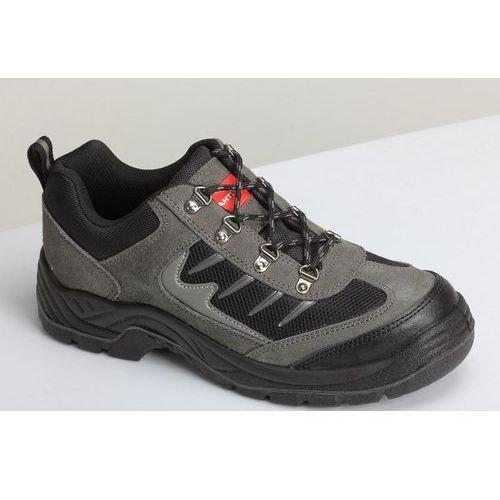 PÓŁBUTY ZAMSZOWE Z DZIANINĄ SIATKOWĄ SZARO-CZARNE roz 41 LAHTI PRO WYPRZEDAŻ - produkt z kategorii- obuwie robocze