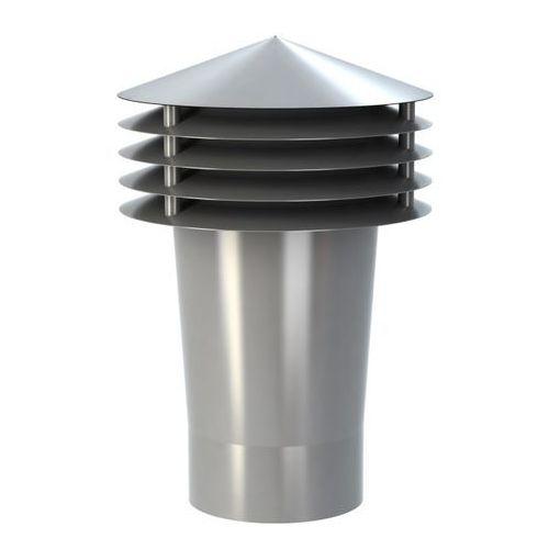Wirplast Wywietrznik grawitacyjny  k1101 fi 110 mm szary (5905857391118)