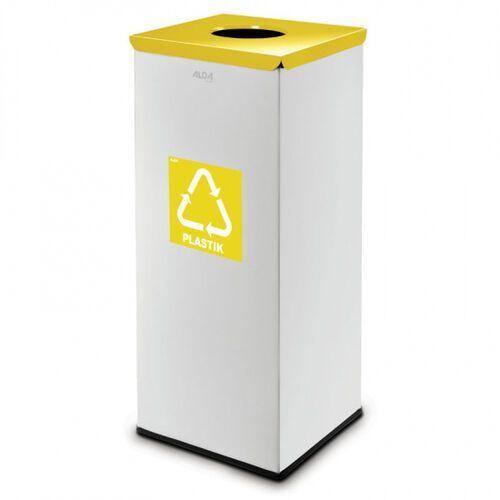 Kosz do segregacji odpadów 50 L srebrny, na plastik, bez naklejki