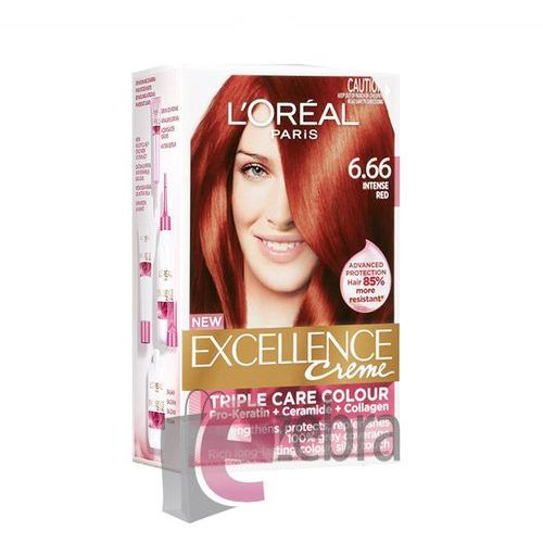 LOREAL FARBA DO WŁOSÓW EXCELLENCE CREME 6.66 RED - 6.66 INTENSE RED, Loreal