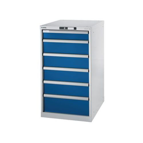 Lista Stół warsztatowy w systemie modułowym, szafka dolna,wys. 1000 mm, 6 szuflad