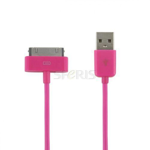 kabel usb 2.0 do ipad / iphone / ipod transfer/ładowanie 1.0m różowy - 07935 wyprodukowany przez 4world