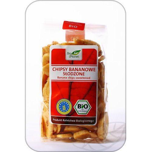 : chipsy bananowe słodzone bio - 150 g marki Bio planet