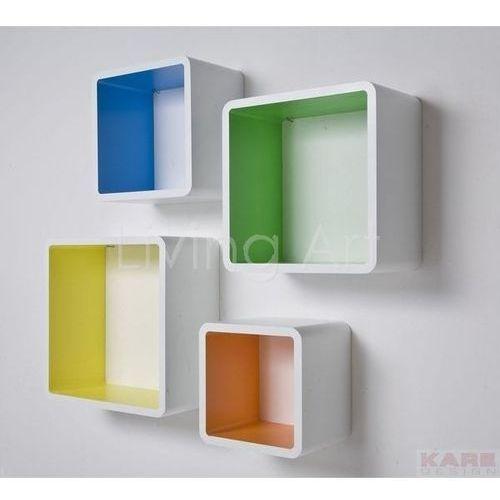 Półki Lounge Cube Square Colore (4/Set), kare design - sprawdź w Living Art nowoczesne meble designerskie