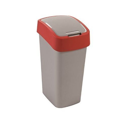 Kosz na śmieci FLIPBIN 50L srebrny/czerwony , produkt marki Curver