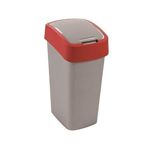 Kosz na śmieci FLIPBIN 50L srebrny/czerwony , marki Curver do zakupu w NEXTERIO