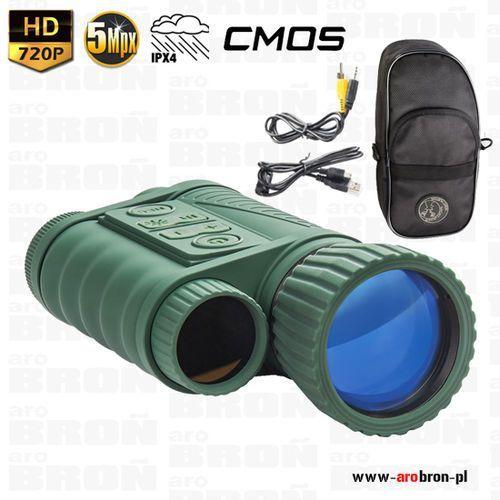 - Noktowizor cyfrowy dziennonocny nighthunter nh-1 6x50 - hd 720p, ipx4, zasięg do 350m
