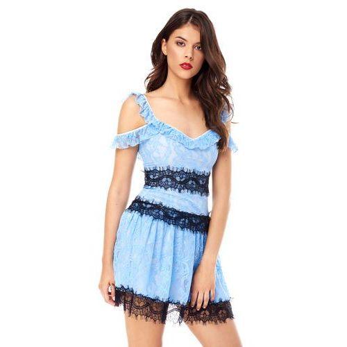Sugarfree Sukienka resia w kolorze błękitnym