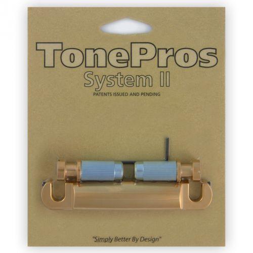 Tonepros t1z-sg - tailpiece, części mostka do gitary, satynowe złoto