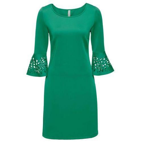 Sukienka z wycięciami zielony marki Bonprix