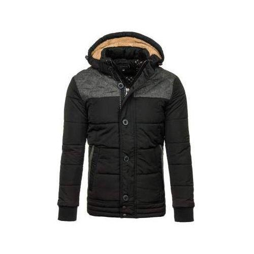Kurtka męska zimowa czarna Denley 3107, kolor czarny