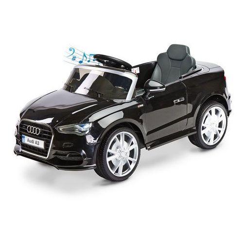Samochód na akumulator Audi A3 Toyz + Pilot Czarny, TOYZ-7095