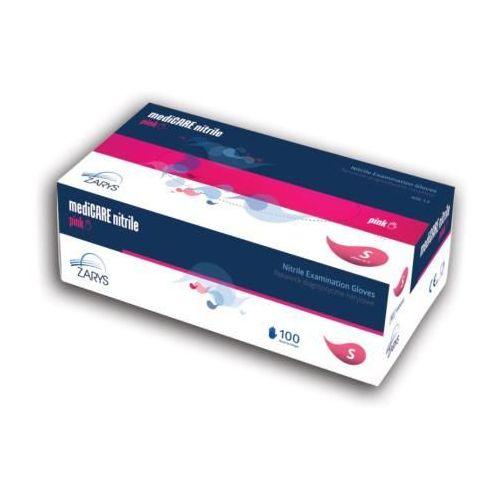Rękawice nitrylowe mediCARE nitrile, różowe, bezpudrowe, 100 szt., 36B5-36339