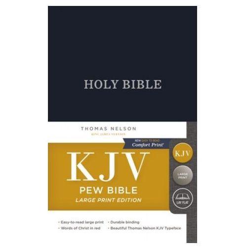 KJV, Pew Bible, Large Print, Hardcover, Blue, Red Letter, Comfort Print
