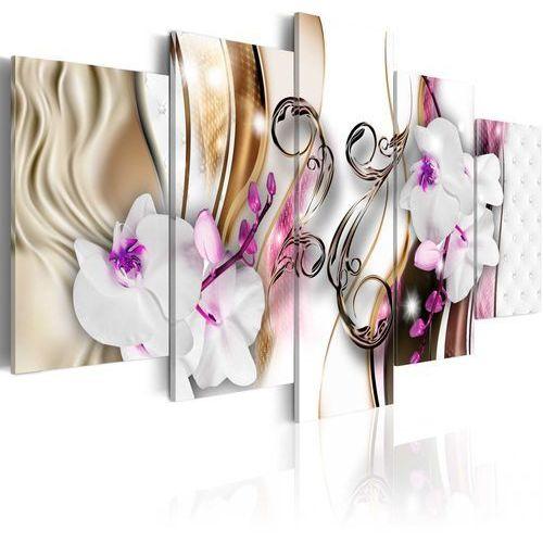 Obraz - orchidee: różowe kwiaty marki Artgeist