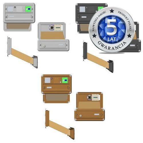 Skrzynka na listy standard z domofonem i czytnikiem kart dostępu - zestaw 50A0111A/C/D (skrzynka na listy) od Mifon