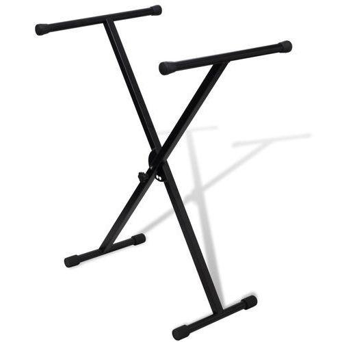 Vidaxl statyw pod keyboard, regulowana wysokość, kształt x (8718475862666)