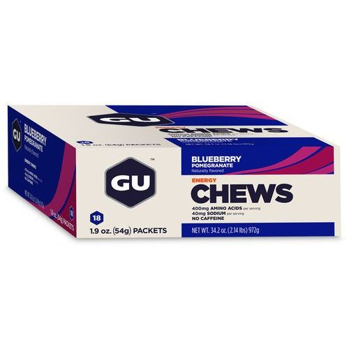 GU Energy Chews Żywność dla sportowców Blaubeere-Granatapfel 24 x 54g beżowy/niebieski 2018 Zestawy i multipaki (0769493101402)