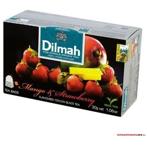 Herbata DILMAH AROMAT MANGO z TRUSKAWKĄ. 85036 (20 saszetek)