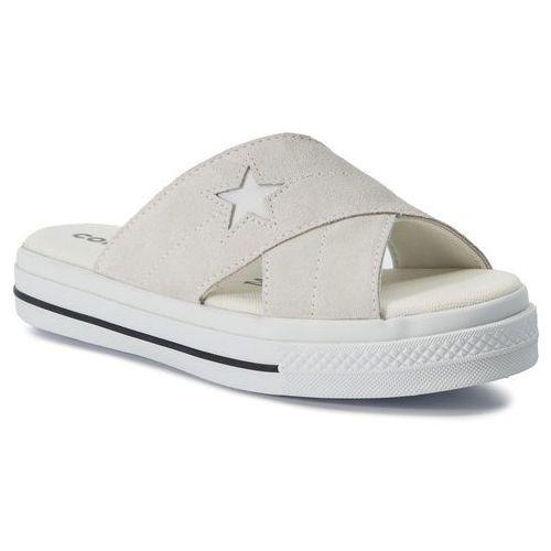Klapki CONVERSE - One Star Sandal Slip 564144C Egret/Egret/White