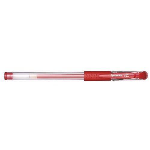 Donau Długopis żelowy z wodoodpornym tuszem 0,5mm, czerwony