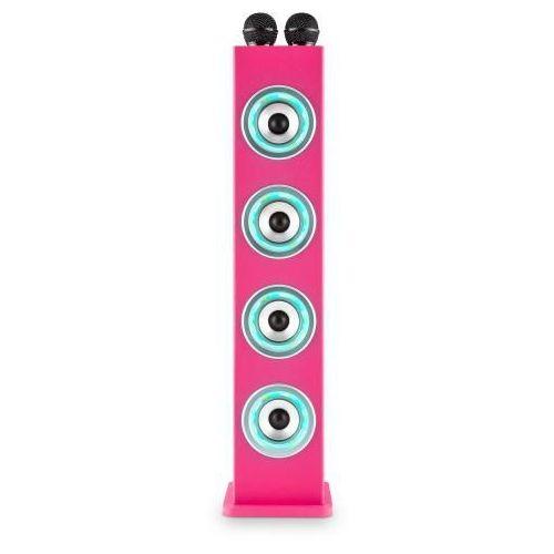 Auna karaboom pk led kolumna bluetooth usb aux ukf karaoke 2 x mikrofon