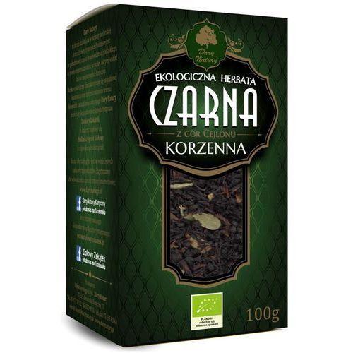 Dary natury - herbatki bio Herbata czarna cejlońska korzenna liściasta bio 100 g dary natury (5902581616951)