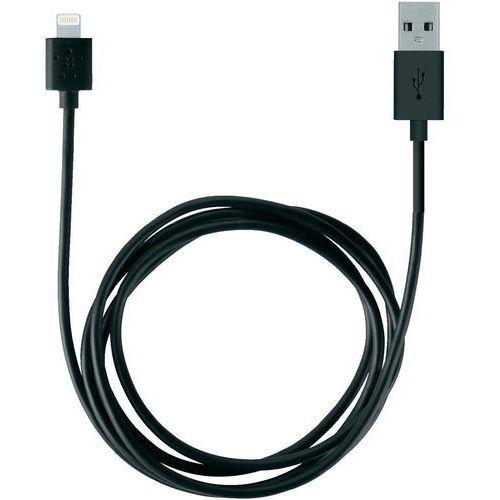 Kabel usb 2.0,  f8j023bt2m-blk, do ipoda, iphone'a, ipada, złącze lightning, 2 m, czarny wyprodukowany przez Belkin