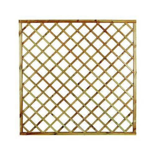 Płot kratkowy 180x180 cm drewniany STELMET