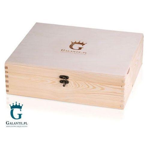 Skrzynka drewniana kuferek naturalny z grawerem marki Galante