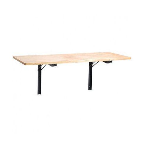 Składany stół warsztatowy na ścianie
