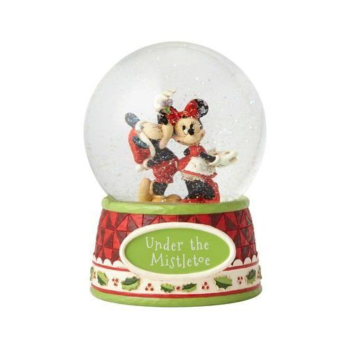 Jim shore Pocałunki pod jemiołą kula śnieżna mickey mouse & minnie mouse waterball 4060275