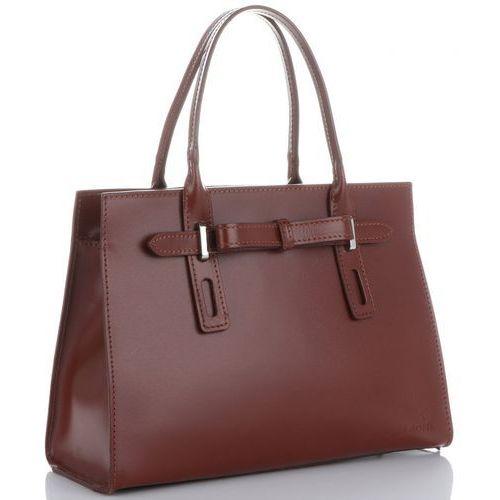 6745052105449 klasyczne firmowe torebki kuferki skórzane z gustowną kokardką brązowe  (kolory) marki Vittoria gotti 275