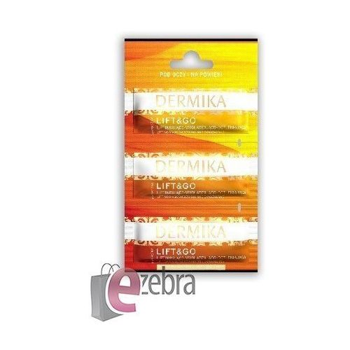 maseczki piękności lift&go - liftingująca maseczka pod oczy i na powieki 3 x 2 ml - dermika sp.z o.o. marki Dermika