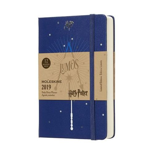Kalendarz Moleskine 2019 Dzienny, Pocekt HARRY POTTER edycja limitowana, 1716922