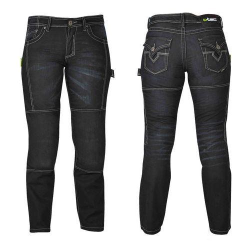 W-tec Damskie jeansowe spodnie motocyklowe theo, czarny, 20/xxl